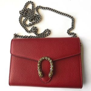 Gucci Dionysus Wallet On Chain Mini Bag Red EUC